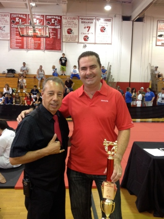 With Shihan Rich Fescina after I won first place at the Empire States.